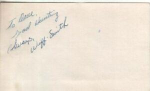 Wiffi Smith Autographed Vintage Index Card 1950's LPGA Golf Great
