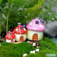 Dollhouse Toadstool Mushroom Terrarium DIY Fairy Decor Garden Miniature LP