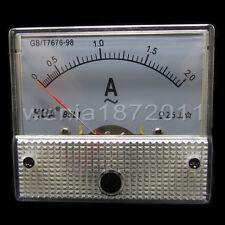 AC 2A Analog Ammeter Panel Pointer AMP Current Meter Gauge 85L1 0-2A AC