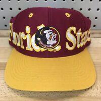Vintage Florida State Seminoles FSU NCAA College Logo 7 Brand SnapBack Cap EUC