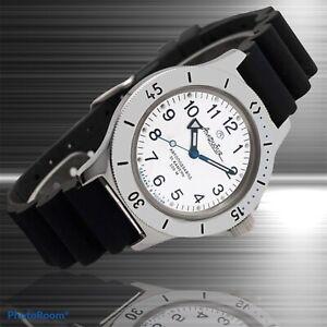 New Mens Automatic Watch Vostok Amphibian 120813 White Dial Diving 200 m (20ATM)