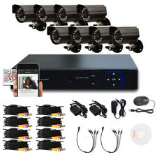 8CH CCTV H.264 DVR 8PCS Outdoor Waterproof Camera Security System Night Vision