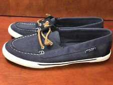 Sperry Womens Quest Rhythm  Navy Flats Boat Shoes 10 M EUC Rare Find Sailing
