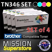 SET of 4 TN346 BCMY Toner Cartridge for Brother MFC-L8600CDW L8850CDW L9550CDW