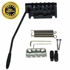 Tremolo Bridge 2 Point Strat Style Guitar Locking System w Springs & Claw Black