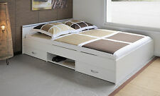 Bett Funktionsbett 140 x 200 cm weiss Woody 167-00026