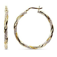 Fashion 925 Silver,Gold Hoop Earrings for Women Jewelry Gift A Pair/set