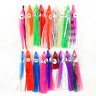 Lot 50x Octopus Squid Skirt Lures Bait Hoochies Soft Fishing Lures Saltwater