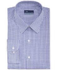 John Ashford Men's Regular-Fit Dress Shirt, Blue/White Check, 18, 34/35