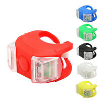 6Color Silicone Bike Bicycle Cycling Head Front Rear Wheel 2LED Flash Light Lamp