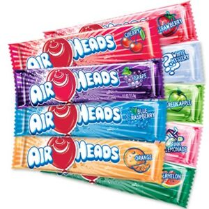 Airheads American Chewy Taffy Candy Sweets - American Airhead Sweets Bar QTY