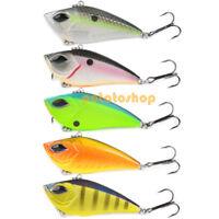Pike Fishing Hard Lure 7cm Sinking Crankbait 4# Hook Rattle Trout Bass Perch