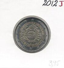 2 Euros - ALLEMAGNE - 2012 - Lettre: J // Qualité: Neuve (10 ans de circulation)
