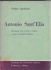 Apollonio, Antonio Sant'Elia, Il Balcone, architettura, 1958, Mariani