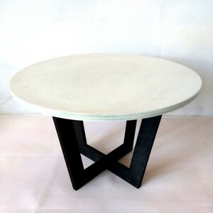 Miniature dollhouse modern table 1:4 scale. Wooden furniture for Minifee size