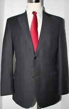 Hugo Boss Gray Super 150s Wool Side Vented 2 Button Suit 40 R Slim 33 33 Flat