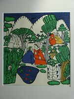 OSKAR KOKOSCHKA -  Paare im Gespräch, Lithographie 1908