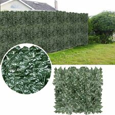 """Expandable Artificial Faux Ivy Leaves Privacy Fence Decor Windscreen 59""""*118"""""""