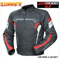 NEW Dririder AIR RIDE 4 Vented Motorcycle Jacket Red Summer Road rrp$199 Road