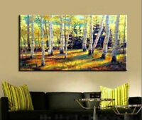CHOP178 100% hand-painted modern tree art abstract oil painting on canvas