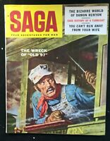 SAGA Magazine - Dec 1956 - Pulp / Men's Interest / Adventure / DAMON RUNYON