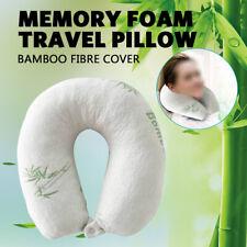 U Shape TravelPillowBamboo MemoryFoam Headrest NeckSupport Car/Flight AU