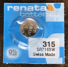 Renata 315 (SR 716SW) Watch Battery Swiss Made 1 pc
