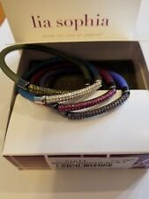 Lia Sophia  BIRTHDAY stretch bracelets set of 4, original box