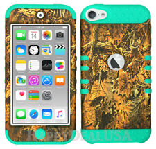 For Apple iPod Touch iTouch 5   6 - KoolKase Hybrid Cover Case - Camo Mossy 03