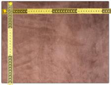 Porc-Velour-Leder Größe A3 (42cmx30cm) rotbraun Lederreste Bastelleder EchtLeder