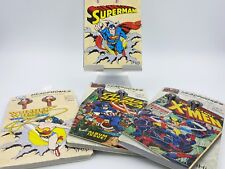 Marvel and DC Comics earbud headphones with vintage image (set of 4)