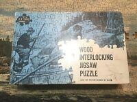 "JK Straus Interlocking Wood Jigsaw Puzzle - ""Cascade"" 500 pieces #226"