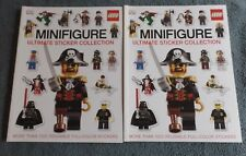 2 Lego MiniFigure Ultimate Sticker Collection Books More Than 1000 Stickers