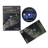 Star Trek: Encounters (Sony PlayStation 2, 2006) CIB Complete W/Manual-Free Ship