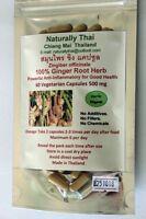 Organic Ginger Root 100% - 500mg x 60 Veg Capsules - Natural Superfood