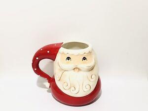 Johanna Parker Dolomite SANTA CLAUS Christmas Ceramic Mug Pairs With Rae Dunn