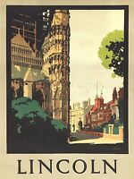 ART PRINT POSTER TRAVEL LINCOLN ENGLAND CATHEDRAL NOFL1110