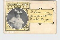 ANTIQUE POSTCARD LEAP YEAR 1908 I HAVE A PROPOSAL TO MAKE TO YOU AH CO.