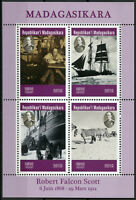 Madagascar 2019 MNH Robert Falcon Scott 4v M/S Boats Ships Exploration Stamps