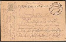 WWI 1917 Military KUK FELDPOSTSTAMT 297 FIELD POST Correspondence Postcard