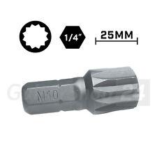 """Vielzahn XZN Spline Bit in der Größe M10 - Projahn S2-Stahl 25mm 1/4"""" Biteinsatz"""