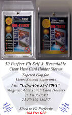 50 (25x2) Perfect Fit Ultra Pro Magnetic Card Holder Sleeves COMBO Pack 35-180PT