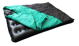 Full Size Air Bed with Detachable Sleeping Bag Camping OutDoor With Pump NEW
