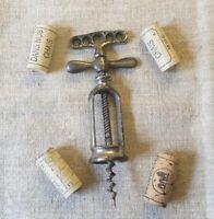 Tire-bouchon à hélice A.B. André Bongrand antique metal Corkscrew with cage 19th