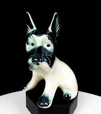 "Japanese Porcelain Black And White Scottish Terrier 5 3/8"" Figurine