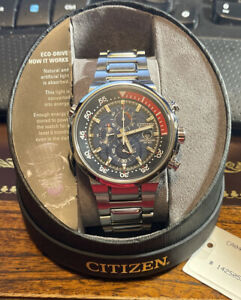Citizen Men's CA0440-51L Chronograph Blue Dial Stainless Steel 200M Watch
