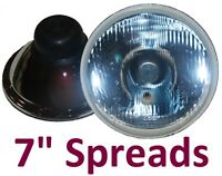"1 pr 7"" Round Spread Wide Beam Headlights Lights Semi Sealed H4"