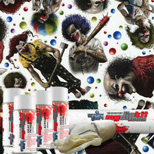 Hydro Dipping Hydrographics Film Printing Designer Dip Kit Creepy Clowns Dd927
