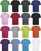 Russell Youths Slim Tee Kids Crew Neck Boys Girls Short Sleeve Childrens Tshirt