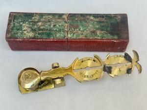 Fine Set of Georgian Portable Brass Sovereign Scales in Original Box.